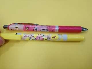 全新正品日本粉紅兔🍓原子筆及螢光筆