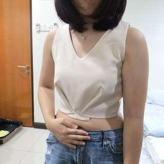 Beige Crop Top