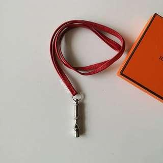 Authentic Hermes Whistle Necklace