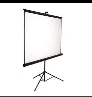 screen projector 6x6 /kaki iklan