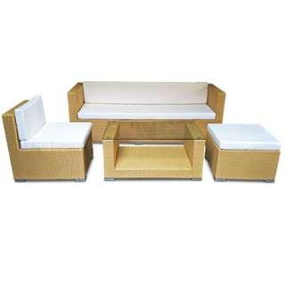 CITRINE SOFA SET – WHITE CUSHIONS