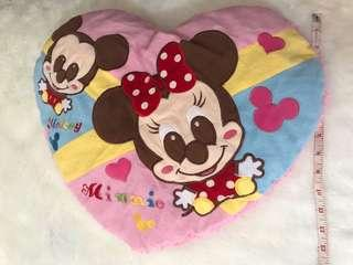 Minnie mouse heart pillow