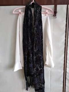 🚚 圍巾 黑色 氣質 低調奢華