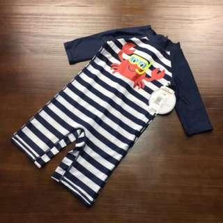 Lil little Baby Striped Printed Swimming Suits