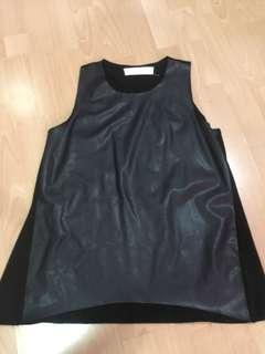 Zara Faux Leather Top