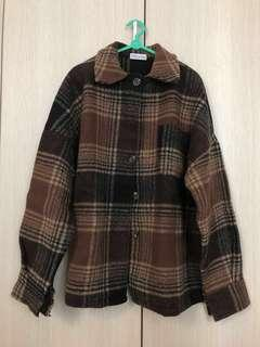 wool plaid winter coat