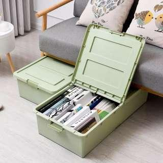 床底收纳箱加高加厚塑料有盖中號带滑轮整理箱衣服被子玩具储物箱
