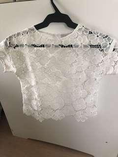 Gingersnaps white top for kids (girls)