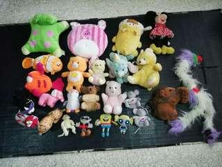 Assorted used soft Toys - Total 25 Toys