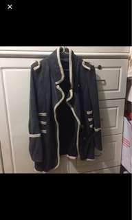 Military style dark grey jacket深灰綿外套