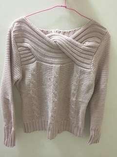 🚚 粉色短版毛衣#一百均價