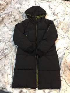 🚚 鋪棉長版黑色飛行外套 #衣櫃大掃除