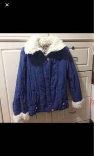 Blue fluffy jacket 藍色毛毛外套