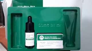 Some by mi serum dan cleansing bar (free masker namo.id green tea isi 50%/himalaya neem scrub baru pake 2x)