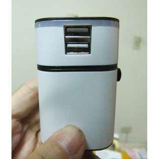 [限量] 雙USB萬能轉換插頭