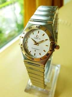 Omega Constellation Ladies Ivory Colour Dial Gold Stainless Steel Quartz