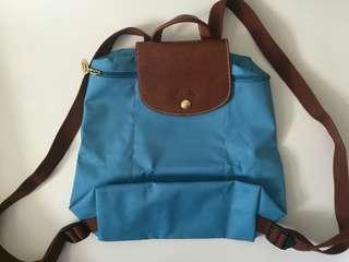 New Longchamp Backpack blue