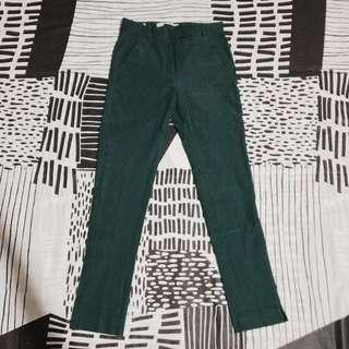 MANGO/Dark green/Stretchy pants/Trousers