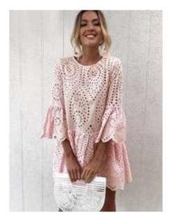 "Size M - Block Trend ""Sandy"" dress in pink"
