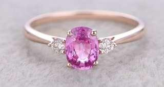 Your custom made pink sapphire ring