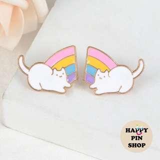 [AVAIL] Pastel Rainbow Cat Enamel Pins