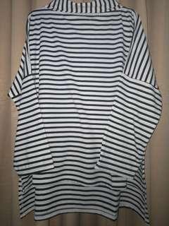Stripe turtleneck