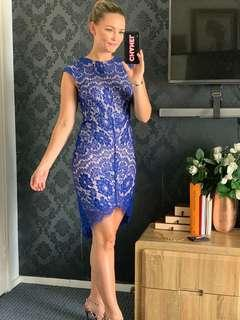 Street Heart blue lace dress with lining