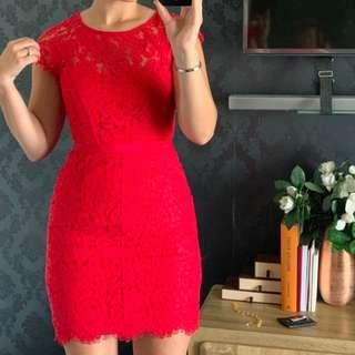 Alannah Hill red lace dress