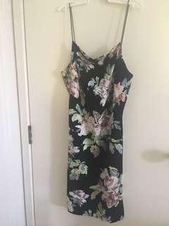 Size 14 floral bodycon dress