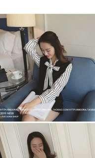 Ribbon long sleeve top