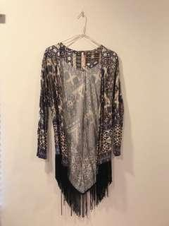 Abstract patterned cardigan
