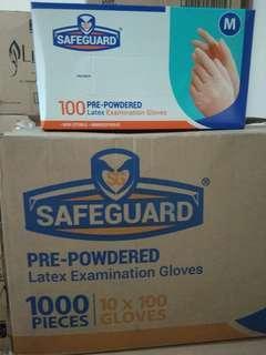 Safeguard glove latex