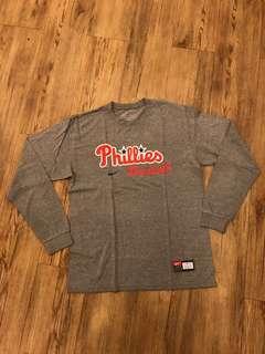 NIKE - (M) L/S Phillies Baseball Tshirt/ Grey