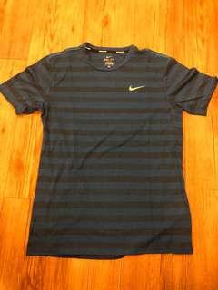 NIKE - (M) Nike Running Dri-fit Stripes Tshirt/ Blue