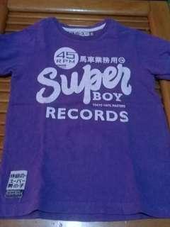 Baju super boy purple