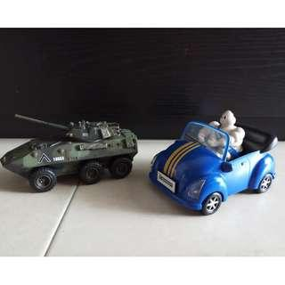 Toy Tank & BlueSports Car Bundle - Two for RM20