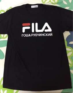 Gosha Rubchinskiy Russia x Fila Italy tee shirt L size