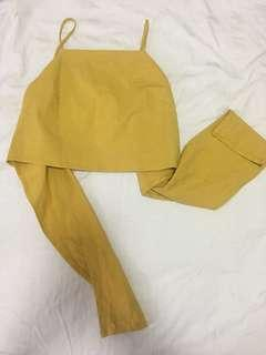 BN Mustard Yellow cropped TOP