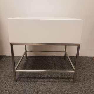 Natalia Bedside Table (Silver)