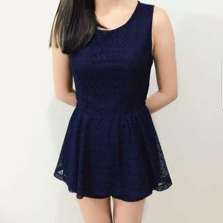[PL] Dark Blue Playsuit