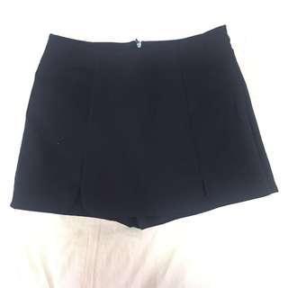 Black Skirt & Blue Skorts