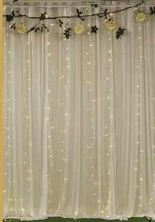 White backdrop curtain rental
