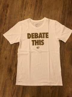 NIKE - (S) KD Debate This Tshirt Kevin Durant / White