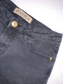 REVERSE Distressed/Ripped Black Jeans UK Women's Size 8