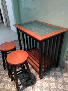 Tall table and stools