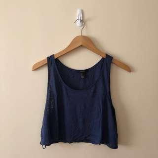 Auth F21 Blue Top