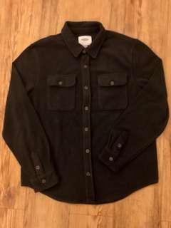 OLD NAVY - (M) L/S Felt Shirt/ Black