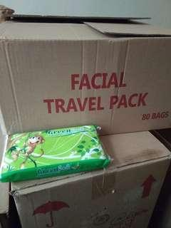Green facial travel pack