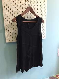 Woman's Sleeveless Black Top