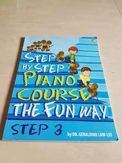 Step By Step Piano Course-Step 3 by Dr Geraldine Law-lee